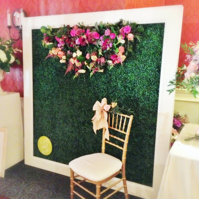 Our floral backdrop