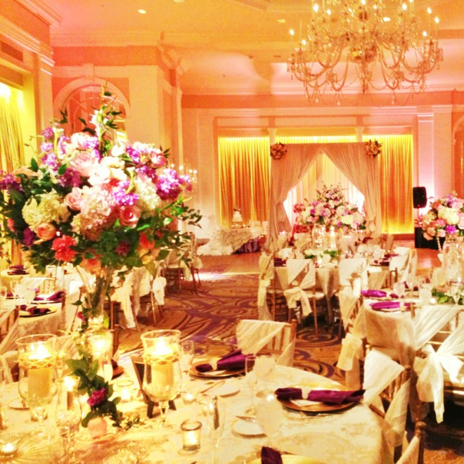 A view of the room at a Mayflower Hotel wedding