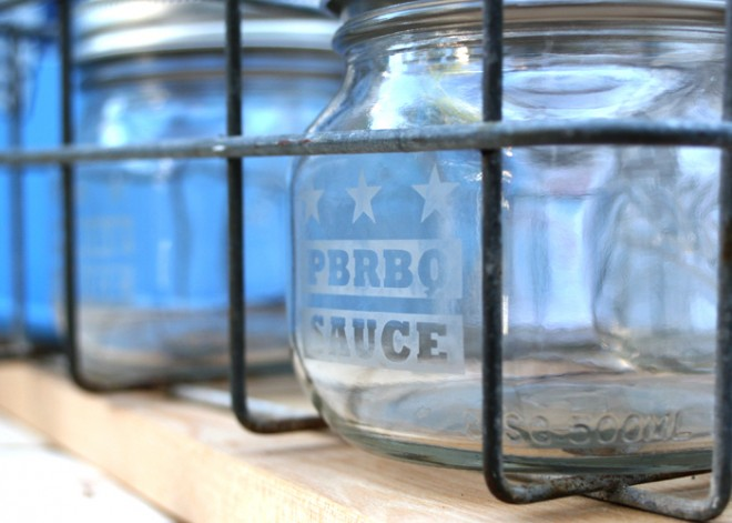Etched Jars Waiting to be Filled