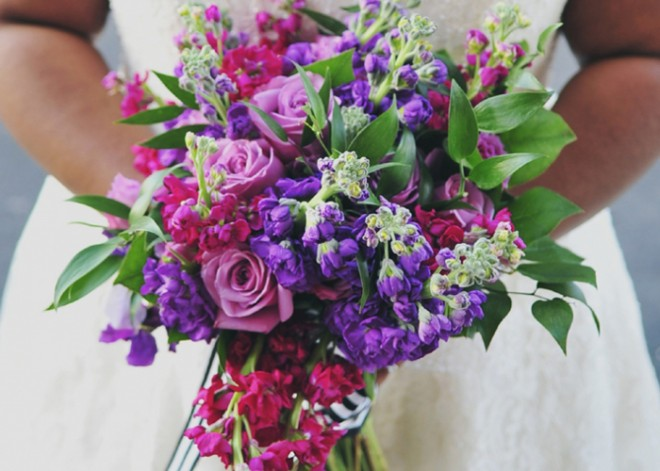 A close-up of Kaleena's bouquet