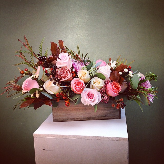 A centerpiece for a fall couple getting married at Hains Point!